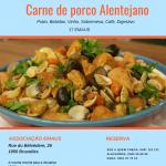 """Carne de porco Alentejano – Organização """"SOS a quem chega"""" – 25.11.2018 às 13:00H"""