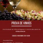 Prova de vinhos sabado 24 Novembro 2018 16:00h