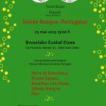 Soirée Basque-Portugaise, Samedi 25 mai 2019