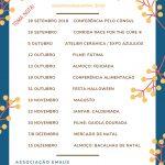 Eventos  Setembro/Dezembro 2019